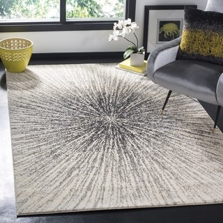 Safavieh Evoke Vintage Abstract Burst Black/ Ivory Distressed Rug (3' x 5')