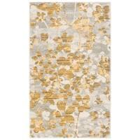 Safavieh Evoke Vintage Floral Grey / Gold Distressed Rug - 3' x 5'
