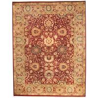 Handmade Herat Oriental Pakistani Kashan Wool Rug  - 9' x 12' (Pakistan)