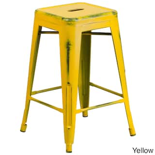 Yellow Counter Height 23 28 In Bar Stools For Less