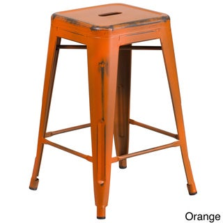 Buy Orange Counter Height 23 28 In Counter Bar Stools Online