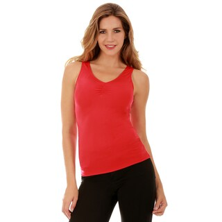 Insta Slim Women's InstantFigure Slimming Hi-Back Front Shirred Tank Top