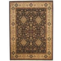 Herat Oriental Pakistani Hand-knotted Kashan Wool & Silk Rug (8'9 x 12') - 8'9 x 12'