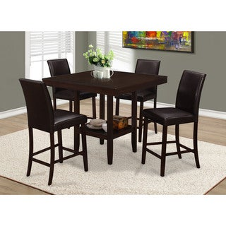 Brown Faux Leather Counter Height Stools (Set of 2)