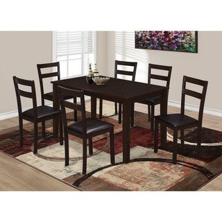 Cappuccino Dark Brown Faux Leather Dining Chairs (Set of 2)