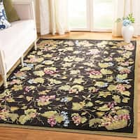 Safavieh Hand-hooked Easy to Care Black/ Multi Rug - 4' x 6'