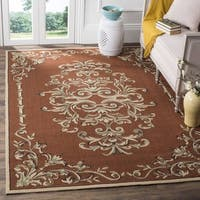Safavieh Hand-hooked Easy to Care Rust/ Multi Rug - 3' x 5'