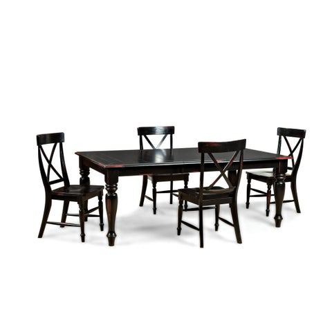 Gracewood Hollow Glendon Black Hand Rubbed 60 to 78-inch Dinette Table