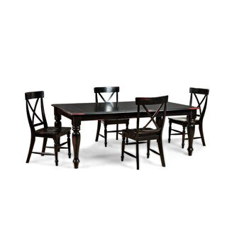 Roanoke Black Hand Rubbed 60 to 78-inch Dinette Table