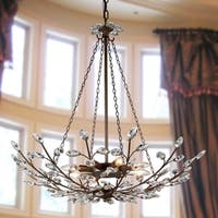 Addie 8-light Crystal 30-inch Antique Bronze Chandelier