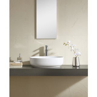 Fine Fixtures White Vitreous China 20-inch Thin Edge Vessel Sink