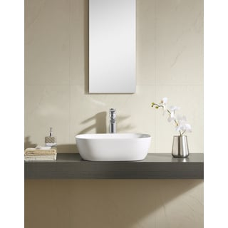 Fine Fixtures White Vitreous China 19-inch Thin Edge Vessel Sink
