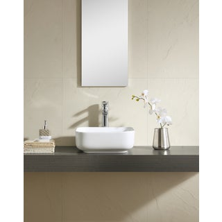 Fine Fixtures White Vitreous China 15-inch Thin Edge Vessel Sink