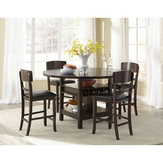 Hampton Square to Round Folding Leaf Gathering Table