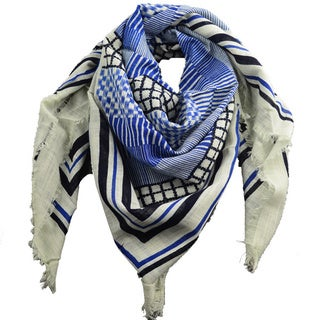 LA 77 Mixed Media Cotton Square Scarf