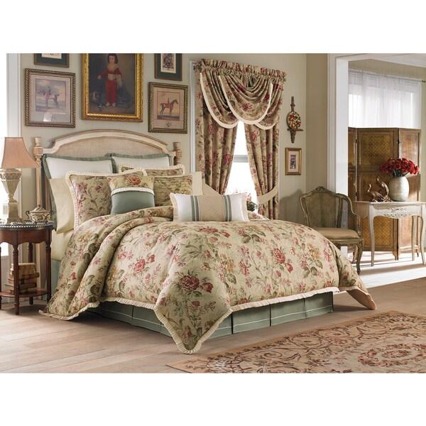 Shop Croscill Cottage Rose 4 Piece Comforter Set Free