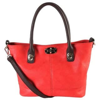 Diophy Turn-lock Closure Design Small Tote https://ak1.ostkcdn.com/images/products/11194221/P18184912.jpg?impolicy=medium