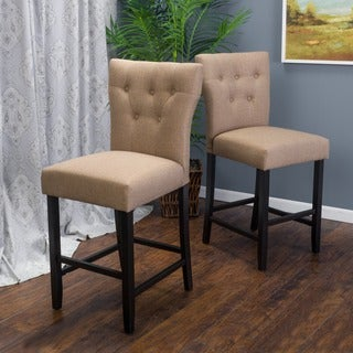 Donner 27-inch Fabric Counter Stool (Set of 2) by Christopher Knight Home