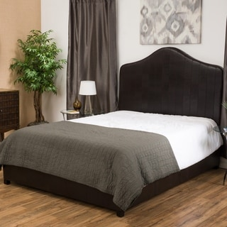 Christopher Knight Home Chambers Upholstered Bonded Leather Queen Bed Set