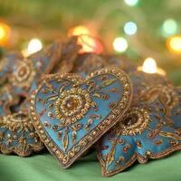 Set of 10 Handmade Beaded 'Teal Joy' Ornaments (India)