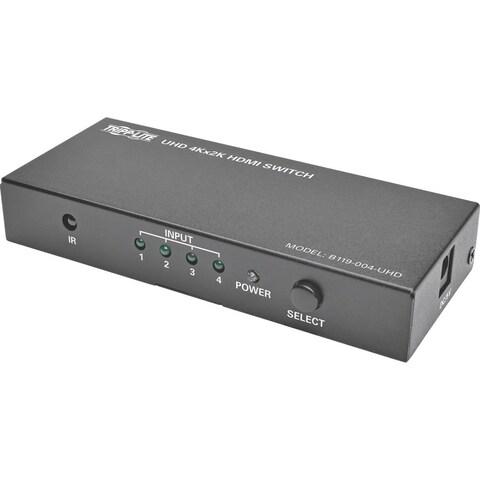 Tripp Lite 4-Port HDMI Switch for Video & Audio 4K x 2K UHD 60 Hz w R