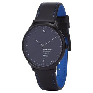Mondaine Men's MH1L2222LB 'Helvetica No. 1 New York Edition' Blue Leather Watch