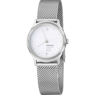 Mondaine Women's MH1L1110SM 'Helvetica No. 1 Light' Stainless Steel Watch