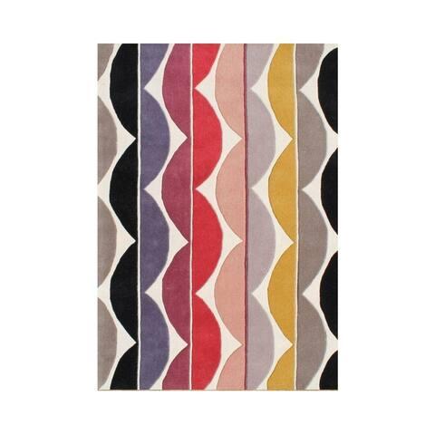 Alliyah Handmade Saffron New Zealand Wool Blend Rug (5' x 8') - 5' x 8'