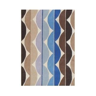 Alliyah Handmade Sand New Zealand Wool Blend Rug (5' x 8')