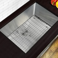 Highpoint Collection 30 Inch Professional Style Small Radius Stainless Steel Undermount Sink with Grid and Drain