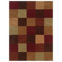 Linon Trio Collection Beige & Sage Rug (5' x 7')