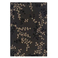 Linon Trio Collection Charcoal & Beige Rug (5' x 7')