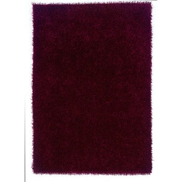 Linon Confetti Collection Wine Shag Rug (5' x 7')