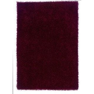 Linon Confetti Collection Wine Shag Rug (5' x 7')