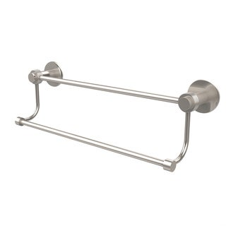 Allied Brass Mercury Collection 36 Inch Double Towel Bar with Groovy Accents
