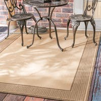 Copper Grove Portumna Two-Tone Border Indoor/ Outdoor Beige Area Rug (6'3 x 9'2)