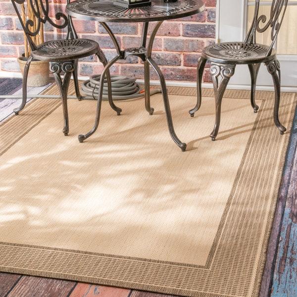 Copper Grove Portumna Two-Tone Border Indoor/ Outdoor Beige Area Rug - 6'3 x 9'2