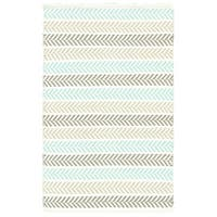 Altair Turquoise Rectangle Cotton Reversible Area Rug - 8' x10'