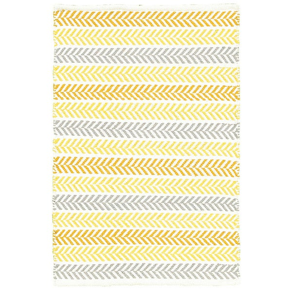 Shop Lr Home Altair Yellow Rectangle Cotton Reversible