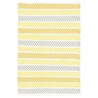 LR Home Altair Yellow Rectangle Cotton Reversible Area Rug - 8' x 10'