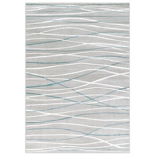 LNR Home Grace LR81126 Grey Rug (5' x 7'2)