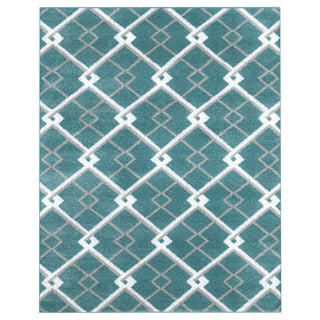 LNR Home Grace LR81128 Blue Rug (7'6 x 9'6)