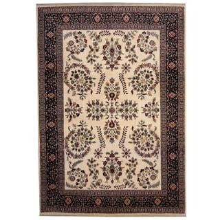 Herat Oriental Indo Hand-knotted Sarouk Wool Rug (8'4 x 12')