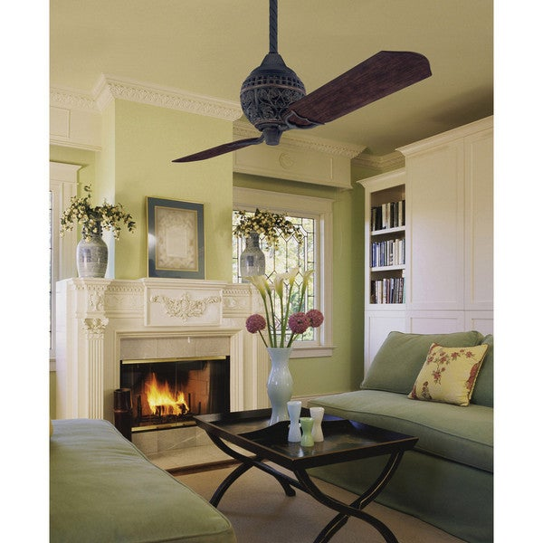 Hunter 1886 Limited Edition 60 Inch Ceiling Fan With Two Carved Wood Blades Free Shipping