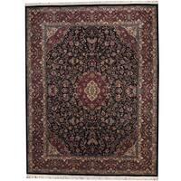 Herat Oriental Pakistani Hand-knotted Kashan Wool Rug (9'2 x 11'10) - 9'2 x 11'10