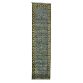 Tabriz Revival Hand-knotted Pure Wool 300 KPSI Runner Rug (2'6 x 10')