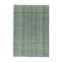 Modern Tone On Tone Striped Pure Wool Hand-knotted Rug (4' x 5'10)
