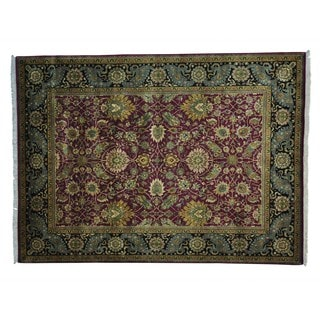 All Over Hand-knotted Pure Wool Rajasthan Rug (9' x 12'5)
