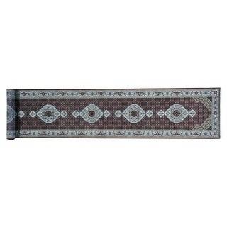 Tabriz Mahi 250 KPSI Wool and Silk Handmade Runner Rug (2'9 x 14')
