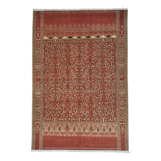 Armenian Geometric Handmade Pure Wool Oriental Rug (6' x 8'10)